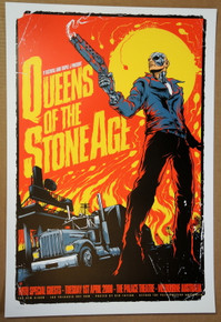 QUEENS OF THE STONE AGE - 2008 - MELBOURNE- POSTER -KEN TAYLOR - TERMINATOR