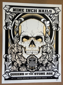QUEENS OF THE STONE AGE - NINE INCH NAILS - 2014 - SYDNEY - JOSHUA SMITH - POSTER