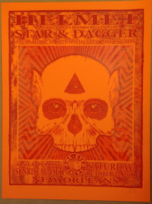 HELMUT - STAR AND DAGGER - 2011 - LINDSEY KUHN - POSTER - NEW ORLEANS