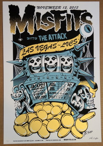 THE MISFITS - THE ATTACK - 2013 -  LAS VEGAS - JOE SIMKO - POSTER -