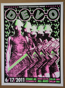 DEVO - 2011- STAGE AE - PITTSBURGH - TOUR POSTER - RYAN RAWTONE