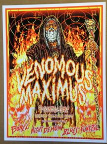 VENOMOUS MAXIMUS  - 2015 - HOUSTON - FITZGERALDS - KYLER SHARP - TOUR POSTER