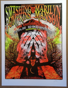 SMASHING PUMPKINS - MARILYN MANSON - 2015 - RED ROCKS - POSTER - LINDSEY KUHN