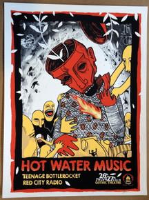 HOT WATER MUSIC - GOTHIC - DENVER - SILK SCRENN POSTER - MOONLIGHT SPEED