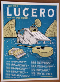 LUCERO - 2020 -  TOUR POSTER - VARIOUS VENUES - JADE JACKSON - MOON LIGHT SPEED