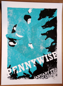 PENNYWISE - 2020 -POSTER -GREEK THEATER - UC BERKLEY - MOON LIGHT SPEED