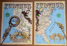 FURTHUR -2011 - SHORELINE - EAST COAST -  2 POSTER SET - MIKE DUBOIS - ARTIST EDITION