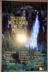 TELLURIDE SUMMER MUSIC FESTIVAL - 1991 - BGP#43 - POSTER - ALLMAN BROS - WSP - JOE COCKER