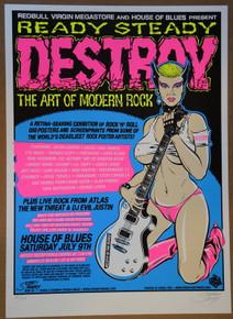 ART OF MODERN ROCK - SHOW POSTER - STAINBOY - GREG REINEL - HOB 2010