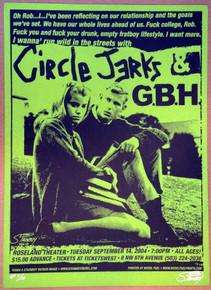 CIRCLE JERKS - GBH - 2004 - PORTLAND - AP#7/10- STAINBOY - GREG REINEL - POSTER
