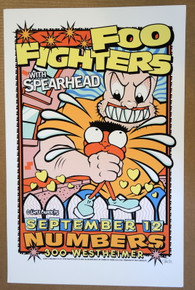 FOO FIGHTERS - 1995 - UNCLE CHARLIE - POSTER - DEEP ELUM - DALLAS - SPEARHEAD