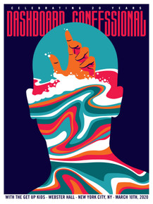 DASHBOARD CONFESSIONAL - 3/10/2020 - WEBSTER HALL - NYC - DAN STILES - A/P - POSTER