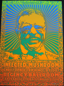 INFECTED MUSHROOM -DYLOOT - #1/180 - POSTER - 2010 -  DAVE HUNTER -REGENCY - SAN FRANCISCO