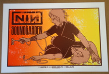 NINE INCH NAILS - SOUNDGARDEN - 2014 - AUSTIN - DALLAS -  TEXAS - #39/75 - POSTER - JERMAINE ROGERS