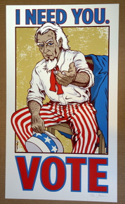 I NEED YOU TO VOTE - ART PRINT - #67/75 - JERMAINE ROGERS -  POSTER