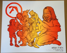 APHEX TWINS - 2016- A/P - DAY FOR NIGHT 2016 - HOUSTON- JERMAINE ROGERS -  POSTER