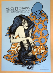 ALICE IN CHAINS - MASTODON - THE DEFTONES - BLUE VARIANT   #14/20 - POSTER - SAN DIEGO - JERMAINE ROGERS