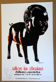 ALICE IN CHAINS - MASTODON - THE DEFTONES -  #51/60 - SQUIRE - EMBELLISHED - POSTER -MOHEGAN SUN - JERMAINE ROGERS