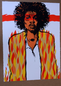 """VOODOO"" JIMI HENDRIX - ART PRINT - #39/60 - JERMAINE ROGERS - POSTER"