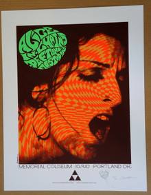 ALICE IN CHAINS - MASTODON - THE DEFTONES -  #47/60 - POSTER - PORTLAND - JERMAINE ROGERS - EMBELLISHED