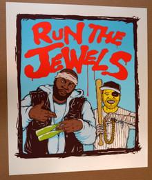 RUN THE JEWELS - ART PRINT - JERMAINE ROGERS - #4/60 - POSTER - El-P - KILLER MIKE