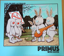 PRIMUS - CLUTCH - 2017 - VARIANT - #23/25 - THE JOINT - LAS VEGAS - POSTER - JERMAINE ROGERS