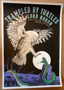 TRAMPLED BY TURTLES -2016 - VARIANT - DENVER -  RED ROCKS  - NEAL WILLIAMS - POSTER