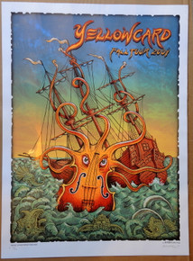 YELLOWCARD - FALL TOUR 2014 - EMEK - ARTIST EDITON #55/200 - SILK SCREEN POSTER