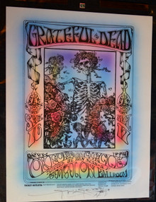 "GRATEFUL DEAD -  2019-FD-26 Stanley Mouse-Skeleton & Roses-ONE OF A KIND Airbrushed-SIGNED and DOODLED Mouse! PAE Graded Mint ""97"""