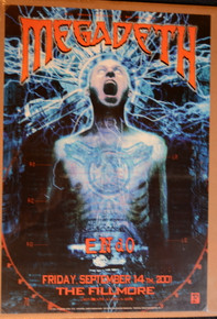 MEGADEATH - 2001 - FILLMORE - SAN FRANCISCO - POSTER - DAVE MUSTAINE