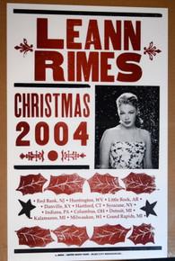 LEANN RIMES - 2004 - CHRISTMAS TOUR 2004 - HATCH SHOW PRINT - POSTER - ORIGINAL