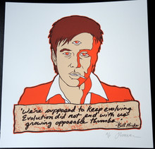 JERMAINE ROGERS -  BILL HICKS - ARTIST PROOF - MINI PRINT - WHITE  PAPER  -  HANDBILL - POSTER