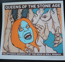 QUEENS OF THE STONE AGE - HANDBILL -WHITE PAPER  - 2013 - JERMAINE ROGERS - POSTER