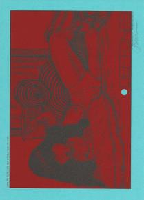 JERMAINE ROGERS - DEFTONES - HANDBILL - MINI PRINT - BLUE RASPBERRY- SIGNED -