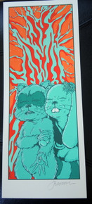 JERMAINE ROGERS - GHOST OF THE FOREST - HANDBILL - MINI PRINT - WHITE - SIGNED -