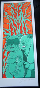 JERMAINE ROGERS - GHOST OF THE FOREST - HANDBILL - MINI PRINT - CREME PAPER - SIGNED -