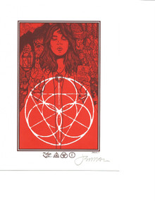 JERMAINE ROGERS - ZOSO RED/ORANGE - HANDBILL - MINI PRINT - CREME PAPER - SIGNED