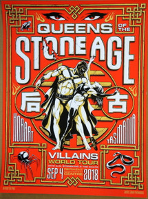 QUEENS OF THE STONE AGE - 2018 - JOSH HOMME - POSTER - DERWENT - HOBART