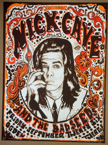 NICK CAVE AND THE BAD SEEDS- 2008 - OGDEN - DENVER - POSTER - DARREN GREALISH