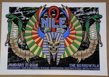 NILE - 2006 - THE BOADWALK - ORANGEVALE - MIKE FISHER - POSTER - HYPOCRISY