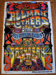 ALLMAN BROTHERS - 2007 - NEW ORLEANS - POSTER - JAY MICHAEL -