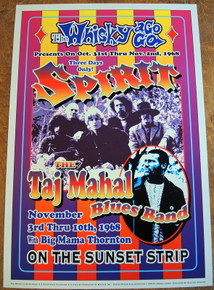 WHISKEY-A -GO-GO - SPIRIT - TAJ MAHAL - 35TH ANNIVERSARY - 1999 - DENNIS LOREN - COMMENORATIVE POSTER