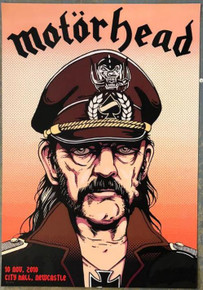 MOTORHEAD - LEMMY KILMISTER - 2010 - POSTER - CITY HALL - NEWCASTLE