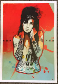 AMY WINEHOUSE - BLACK TO BLACK - POSTER - FRANK DANIEL - RED APE - ART PRINT