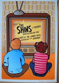 THE SHINS - 2006 AU TOUR - CORNER HOTEL - MELBOURNE - POSTER -JAZZ FELDY