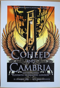 COHEED AND CAMBRIA - 2006 - HI-FI BAR - MELBOURNE - POSTER - JOE WHYTE