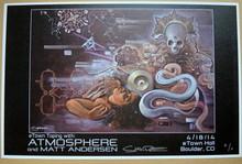 ATMOSPHERE - MATT ANDERSON -2014 - E TOWN - BOULDER-  POSTER - JACK SHURE
