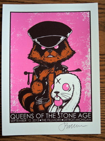 QUEENS OF THE STONE AGE - GIGPOSTER MINI PRINT  - DETROIT - JERMAINE ROGERS - SIGNED