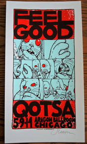 JERMAINE ROGERS - FEEL GOOD - WHITE - QUEENS OF THE STONE AGE - GIGPOSTER MINI PRINT - SIGNED