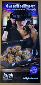 GODFATHER PURPLE - KUSH MAGAZINE - DAILY BUDS POSTER - BUD OF THE MONTH -2010 - KUSHCON